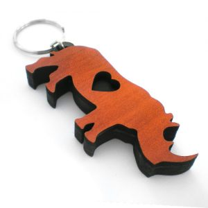 Personalised Keyrings - Rhino