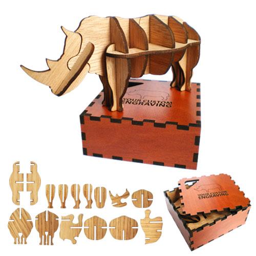 3d puzzle rhino