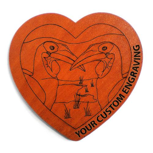 Heart coaster hornbill 1