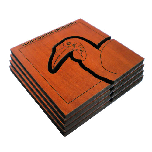 beverage coaster set hornbill