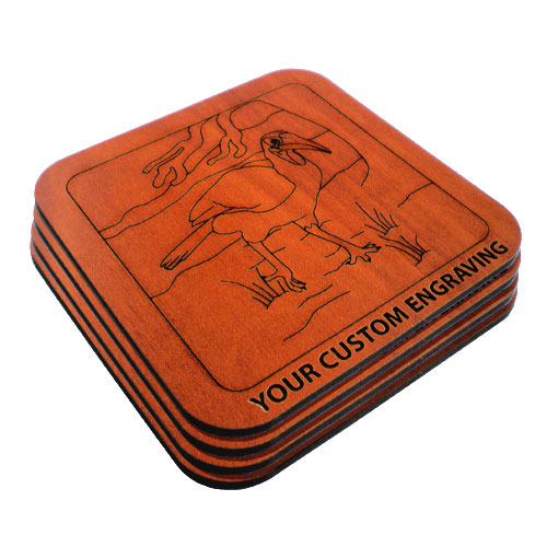 drink coaster set hornbill