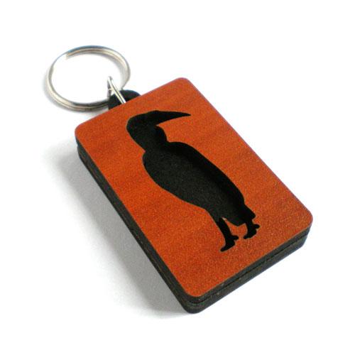 Personalised keyring - hornbill