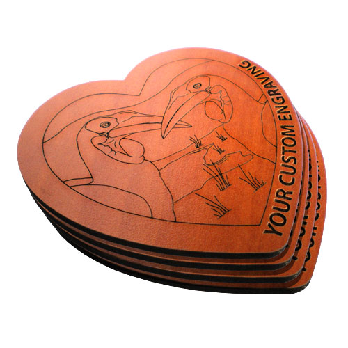 heart coaster hornbill set