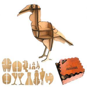 wooden puzzle hornbill