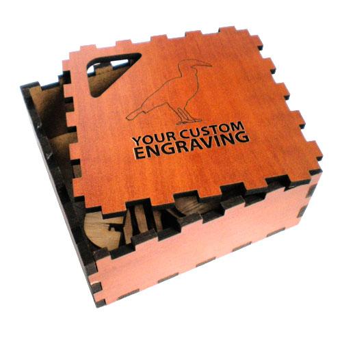 wooden puzzle hornbill box