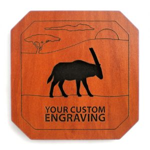 engraved coasters gemsbok