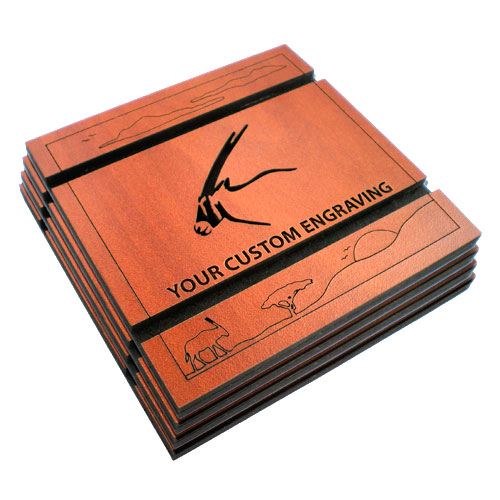 handmade coasters set gemsbok